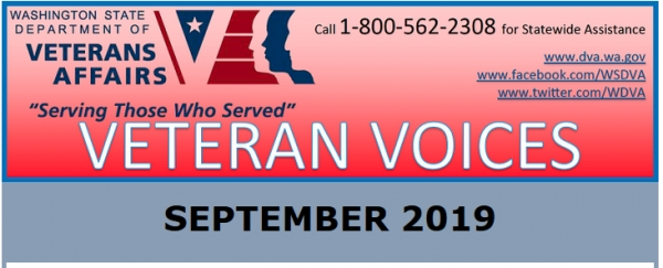 WASHINGTON DEPARTMENT OF VETERANS AFFAIRS NEWSLETTER